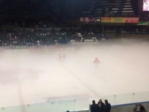 Brouillard patinoire
